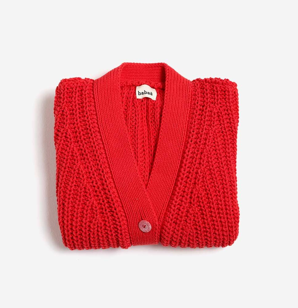 cardigan-woman-no18-red-folded